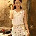 2016 shirt women camisas femenina korean fashion sleeveless floral clothing vetement femme summer tops roupas feminina blouses