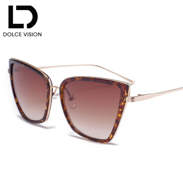 599b092f83 DOLCE VISION Sun Glasses for Women Sunglasses Cat Eye Female Coating  Fashion Shades Sunglass High Quality