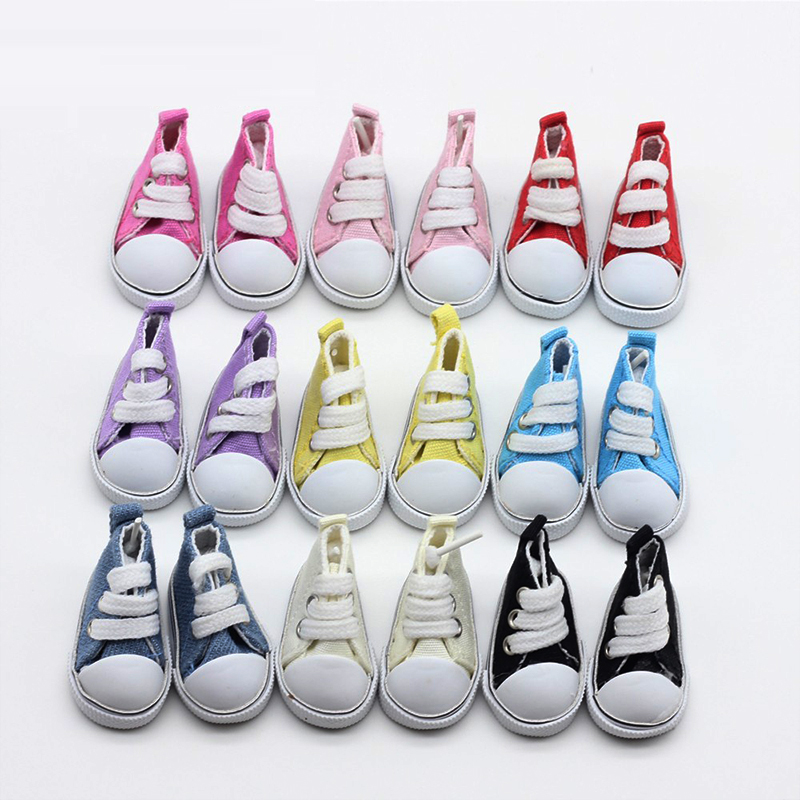9 color Assorted 5 cm Canvas <font><b>Shoes</b></font> For <font><b>BJD</b></font> <font><b>Doll</b></font> Fashion Mini Toy <font><b>Shoes</b></font> Sneaker <font><b>Bjd</b></font> <font><b>Doll</b></font> <font><b>Shoes</b></font> for Russian <font><b>Doll</b></font> Accessories image