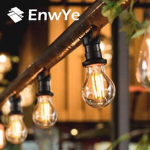 Image 3 - EnwYe Retro Luz de Edison bombilla 4W E27 E14 220V A60 G45 C35 Retro lámpara filamento de tungsteno incandescente bombilla Edison