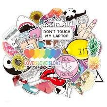 45Pcs Vinyl Laptop Sticker Leuke Trendy Pvc Waterdicht Computer Stickers Koelkast Decal Stickers Voor Macbook/Hp/Huawei huid