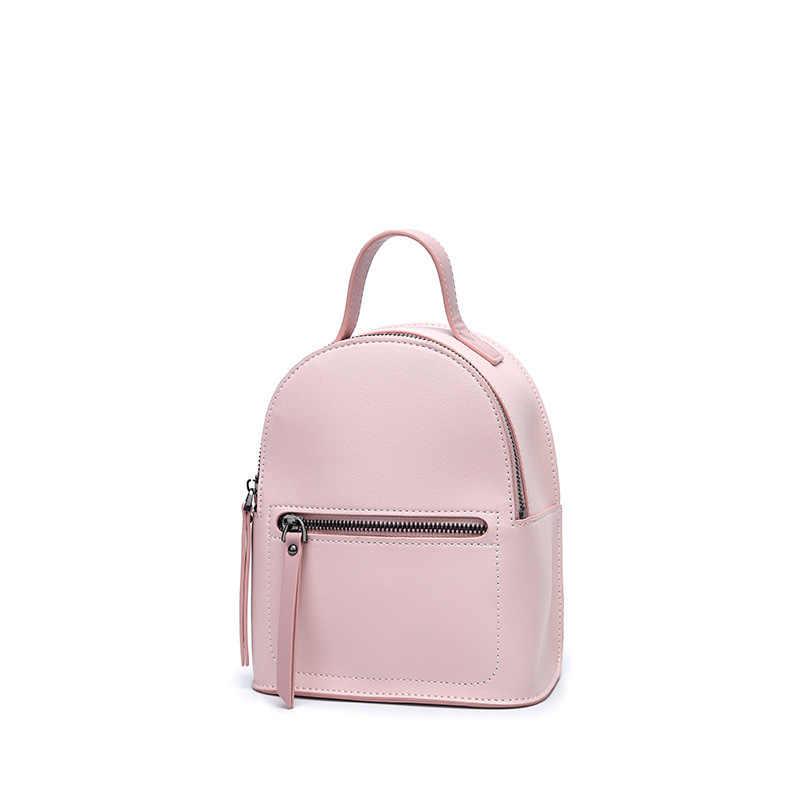 PU Leather Women Protable Mini Travel Backpack for Teenage Girls 2018 High  Quality Small Korean Stylish 13743447ae65