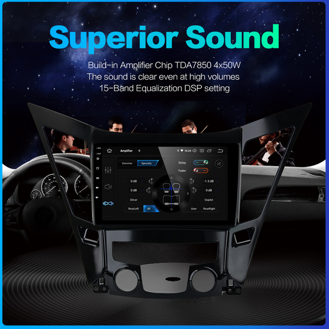 Fongent 9 IPS Car Stereo DSP Radio Android 9.0 For Hyundai