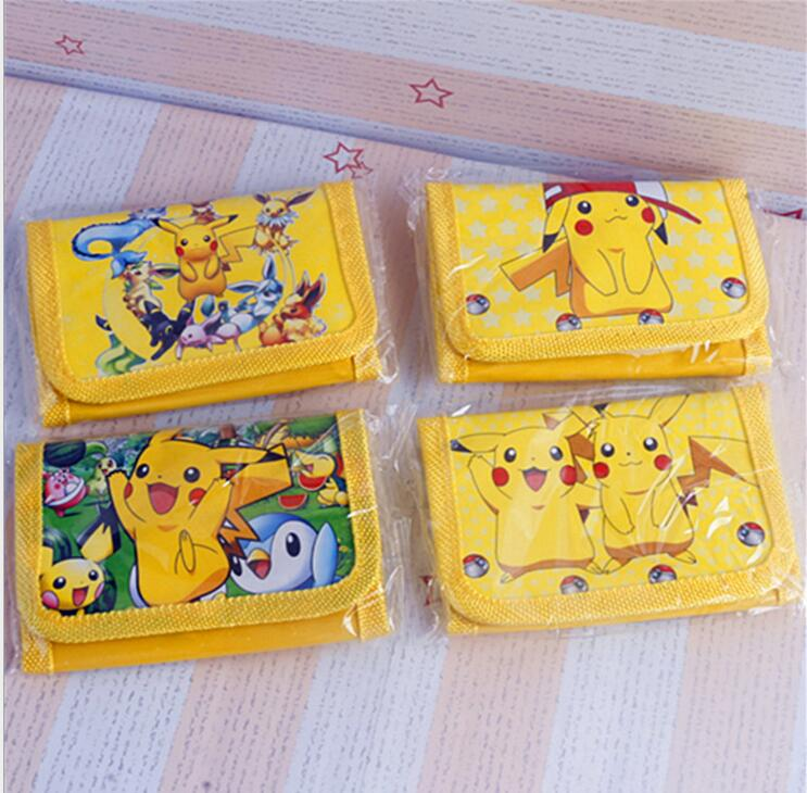 1Pcs Pokemon Pikachu Cute Kids Cartoon Pouch Children Wallet Party Gift toy cartoon short wallet pocket monster pokemon satoshi pikachu short wallets two fold purse children wallet gift
