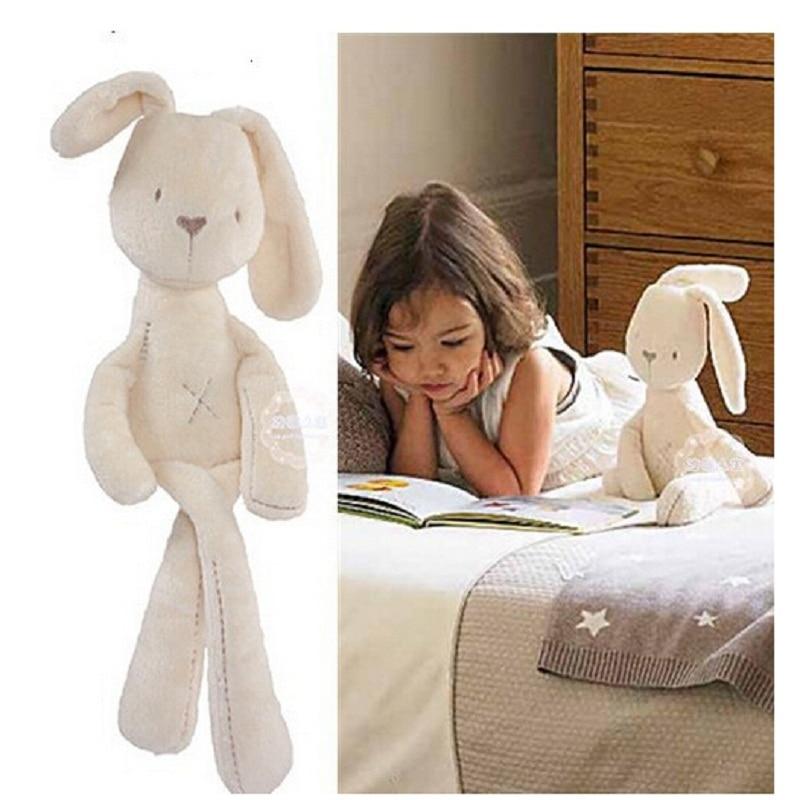 חמוד ארנב בייבי מחרטה צעצועים התפתחותיים אחד חתיכת מיטה רכה ילדים מוסיקלי ערש מוביילים צעצוע מוקדם חינוכית פטיש תינוק רטל