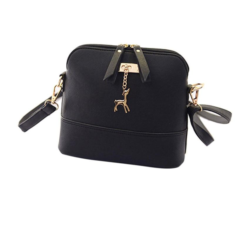 HOT SALE!2018 Women Messenger Bags Fashion Mini Bag With Deer Toy Shell Shape Bag Women Shoulder Bags Bolsa Feminina Gift Сумка
