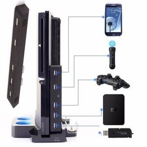 Image 2 - 5 Expander מתאם רכזת מהירות גבוהה 2.0 USB Hub usb 5 ב 1 USB ממיר לפלייסטיישן PS3 & Sony PS3 Slim קונסולות 2 כדי 5 + כובעים