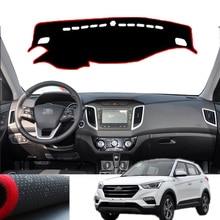 цена на Xiaobaishu For hyundai ix25 2019 car dashboard avoid light pad instrument platform Desk Cover Mats Carpets car interior trim