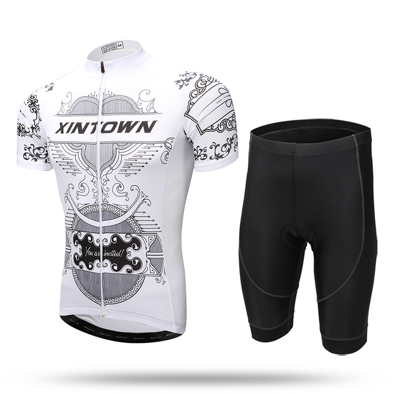 XINTOWN demon month riding suit short suit on the ground clothing sweat perspiration bicycle riding suit suit male