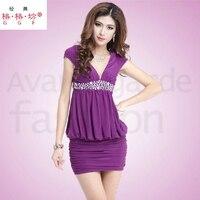 2015 Summer Dress New Short Sleeves Stretch Midnight Dress Shop With Sexy Backless Summer Dress Cheap