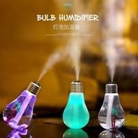2016 New Humidificador Ultrasonic Humidifier Home Office Mini Aromatherapy Colorful LED Night Light Bulb Aromatherapy Atomizer