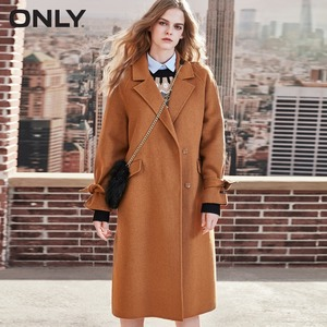 Image 4 - ONLY  womens winter new long woolen coat Side slit design Cuff tie up design
