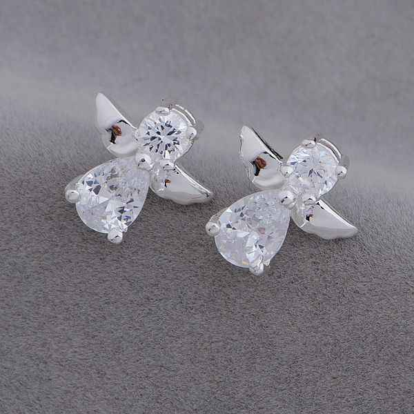 AE653 Hot 925 sterling silver earrings , 925 silver fashion jewelry , angel /cthalkoa bdjajuqa