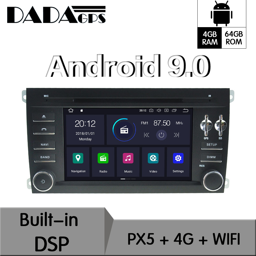 Android 9.0 4+64GB Built-in DSP Car DVD Player Radio For <font><b>Mercedes</b></font> Benz GL <font><b>ML</b></font> CLASS W164 ML350 ML500 X164 GL320 GPS Navigation image