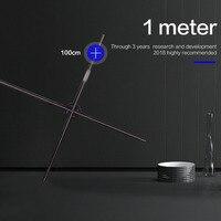 Светодиодный 1 м 3D голографический проектор портативный невооруженный глаз 3D Голограмма плеер голографический дисплей вентилятор гологра