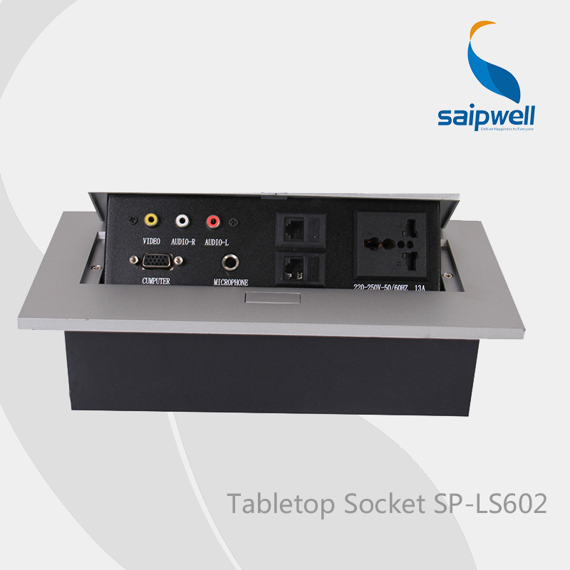 цена на 2014 Newest Design Tabletop Socket ,Conference Table Multimedia Panel 220~250V 50/60Hz (SP-LS602)