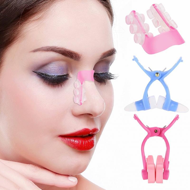 Nose Up Clip Korrektur Set Neues Shaping Clip Nasenheber Gl/ätteisen Gl/ätten Beauty Clip 3 St/ück Nose Shaper Massageger/ät Clip