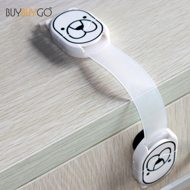 2Pcs Baby Safety Lock 2018 Special Offer Drawer 2 Resin Hot Sale Locks for Child Kids Cabinet Door Drawers Newest Double Button