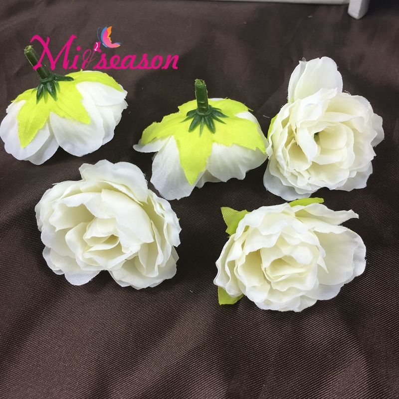New 3.5cm Silk Small Hibiscus Flower Head Handmake Wreath Hairpin ...