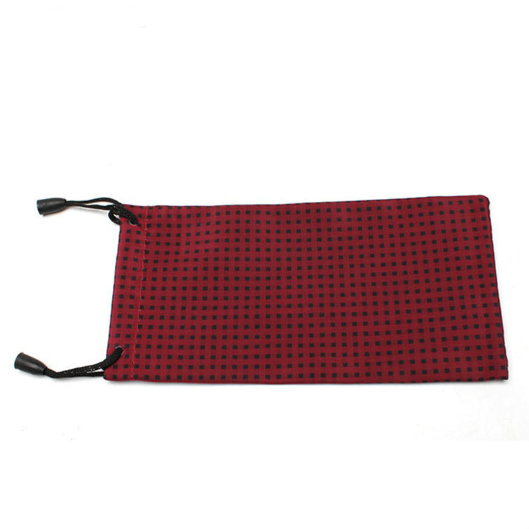 Image 3 - 100 pcs/lot DIY Watch Phone Glasses Case Soft Waterproof Cloth Sunglasses Bag Glasses Pouch Eyeglasses Cases Mixed ColorsEyewear Accessories   -