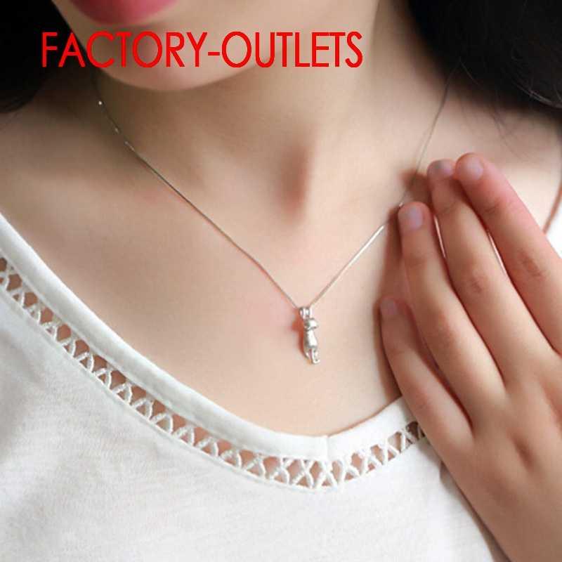 925 en argent Sterling mariée pendentif collier pour la décoration de mode bijoux mignon chat forme femmes filles fête fiançailles