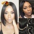 Straight Brazilian Virgin Hair Bob Cut Full Lace Wig 4x4 Silk Base Lace Front Wigs Short Human Hair Bob Wigs For Black Women