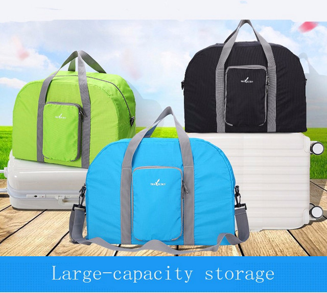 Travelsky Men's Casual Travel Bag Waterproof Handbags Foldable Shoulder Bag  Carry on Luggage Case Zipper Trolley Free Shipping