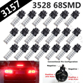 10X Red 3157 3528 led High Power 68 SMD Freio Cauda Luz de Stop lâmpada LED Car Auto Brake Cauda Parar Luz Lâmpadas LED 3057 3457 4157 3047