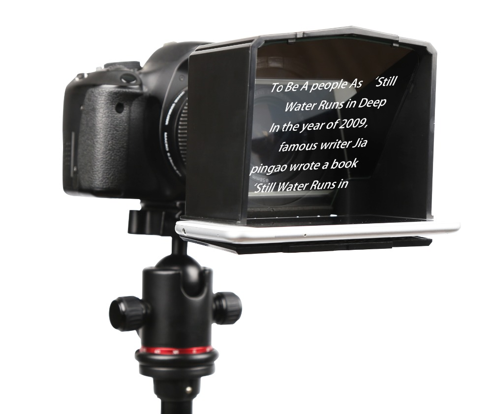 Image 2 - Bestview Smartphone Teleprompter for Canon Nikon Sony Camera Photo Studio DSLR for Youtube Interview Teleprompter Video Camera-in Photo Studio Accessories from Consumer Electronics