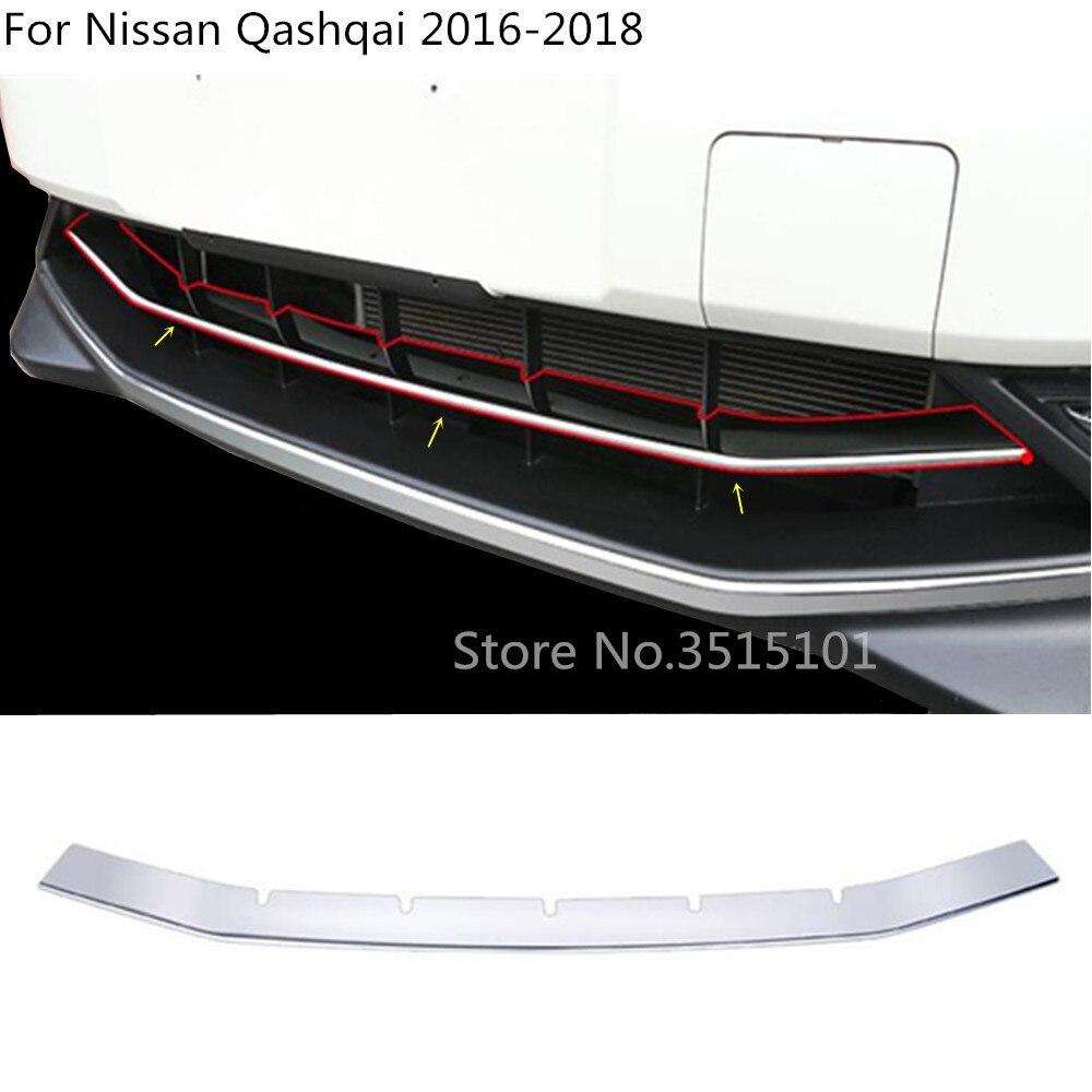 Voiture style couverture protection détecteur ABS garnitures chromées avant fond Grille Grille Grille autour pour Nissan Qashqai 2016 2017 2018