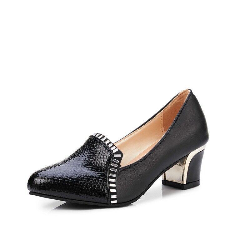 Marca Talón Mujeres Boca Del Baja Alto Nueva Tacones blanco De 2018 Zapatos  Altos Moda Negro ... 09cfc2372d95