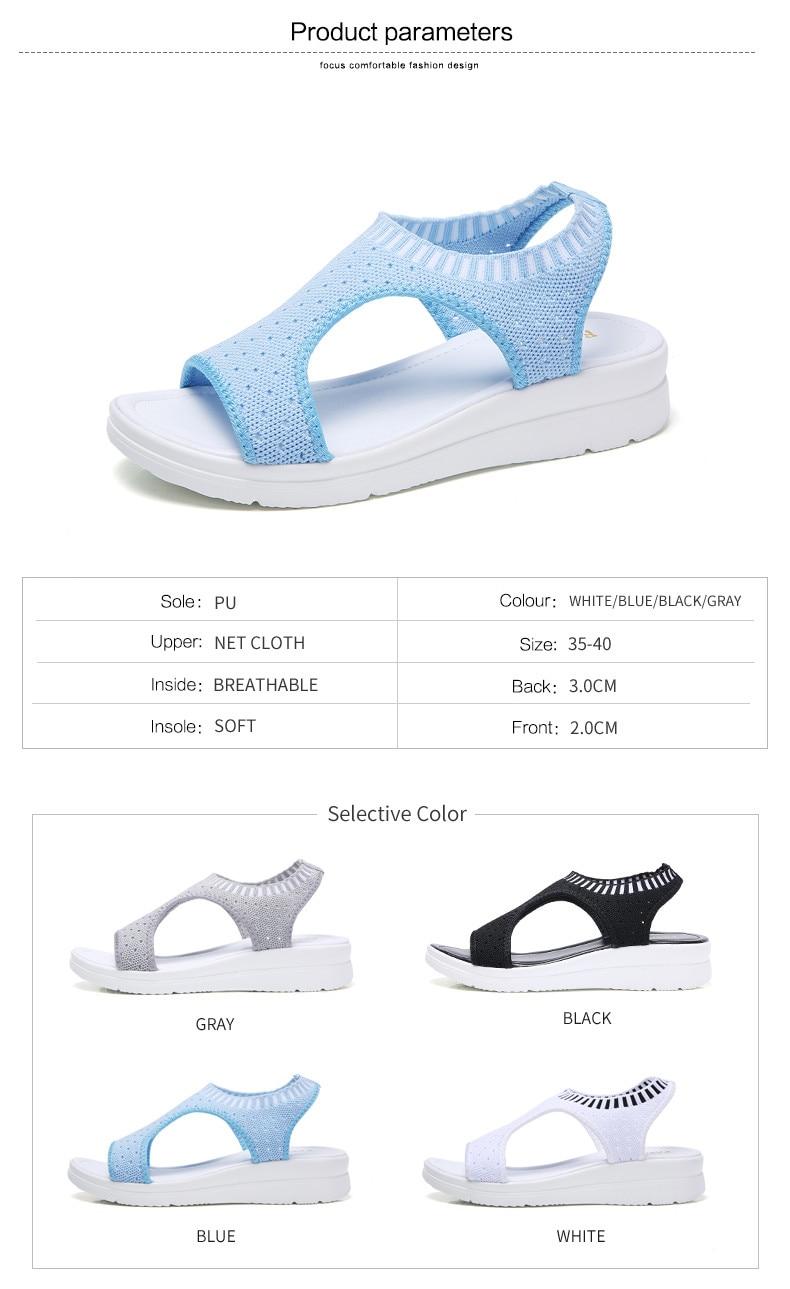 HTB1ICsXhljTBKNjSZFNq6ysFXXaW PINSEN Women Sandals 2019 New Female Shoes Woman Summer Wedge Comfortable Sandals Ladies Slip-on Flat Sandals Women Sandalias