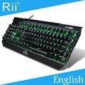 [Бесплатные DHL] Оригинальный Rii K61 USB Механическая Игровая Клавиатура с Подсветкой Высокой Качество-30 шт