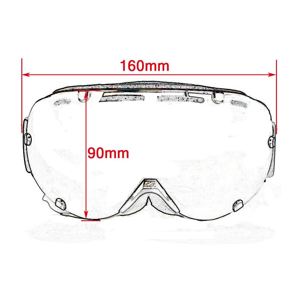 BJMOTO Wen Women Ski Goggles Double Lens UV400 Anti-fog Skiing Snowboard Glasses   Mask