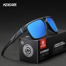 KDEAM New Arrived Mens Sport Sunglasses Polarized lens 4 colors Square Frame Outdoor Eyewear gafas de sol KD138