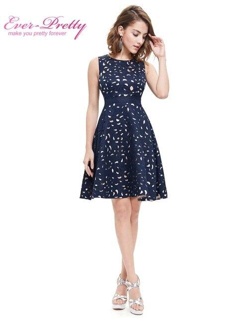 Осень Женщины Партии Коктеила 2016 EP05432NB Элегантные Линии Мини Темно-Синий Леди Коктейльные Платья