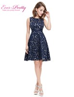 Autumn Women Cocktail Party Dress 2016 EP05432NB Elegant A Line Mini Navy Blue Lady Cocktail Dresses