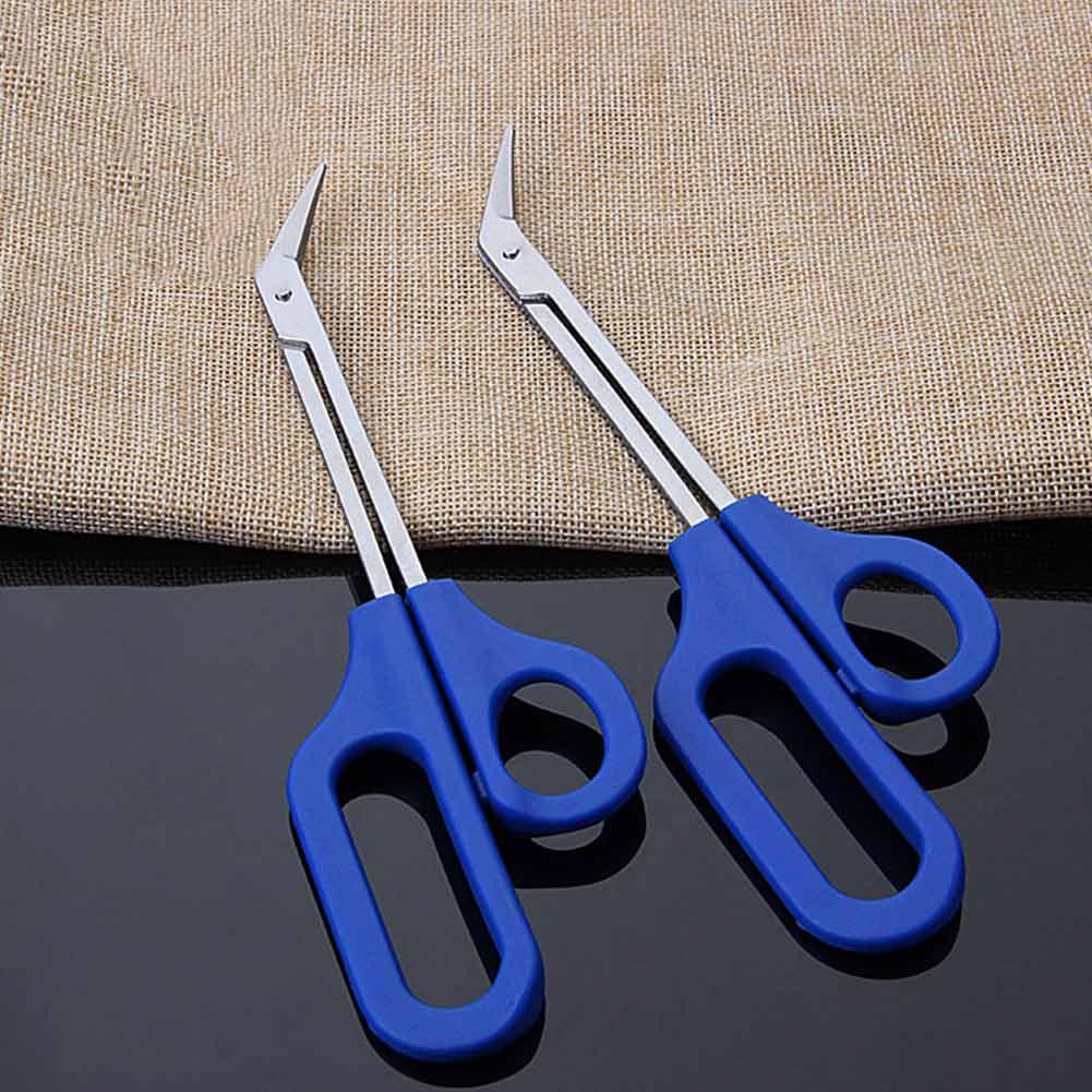 Long Reach Toenail Scissors Easy Grip Trimmer Disabled Cutter ...