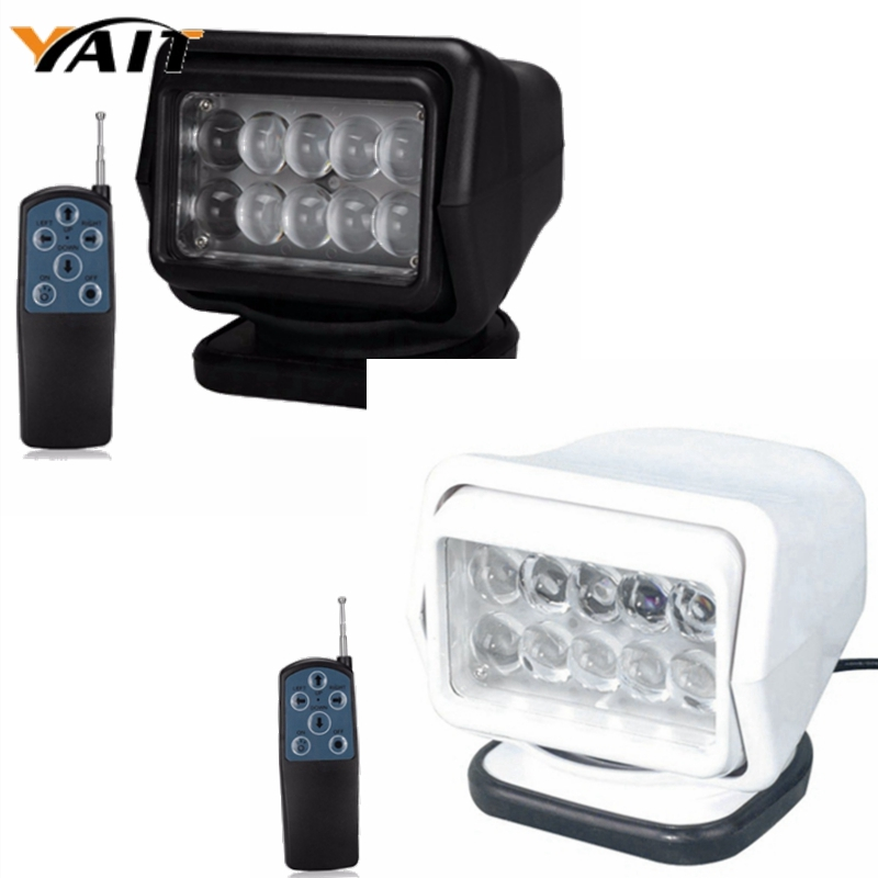 For SUV ATV CAR Pair 7inch 50W LED Auto Wireless Search Spot Light Remote Control Worklight Lamp 12V Led Searching Camping Light 1pc 7 inch remote control switch searching light car spot light 50w led search light 12v for boat auto hunting working lamp