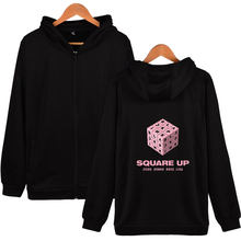 Kpop BLACKPINK Girl's Group Kpop Hoodies Men/Women Zipper Harajuku Fashion Casual Letter Kpop Tracksuit Hoodies Women Cool(China)