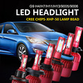 Auxmart G9 Dipped High Beam Single Beam LED Headlight Kits H4 H13 H7 H11 9005 9006 Car Headlamps SMD 6500K 9600LM 80W Fog Lamps