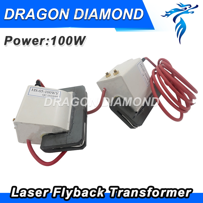 Dragon Diamond Free Shipping High Voltage Flyback Transformer For 100W CO2 Laser Power Supply DY13