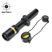 1 5 6x24 Green Fiber Optic Rifle Scope Green Illuminated Magnifier Hunting Airgun Riflescope For Outdoor