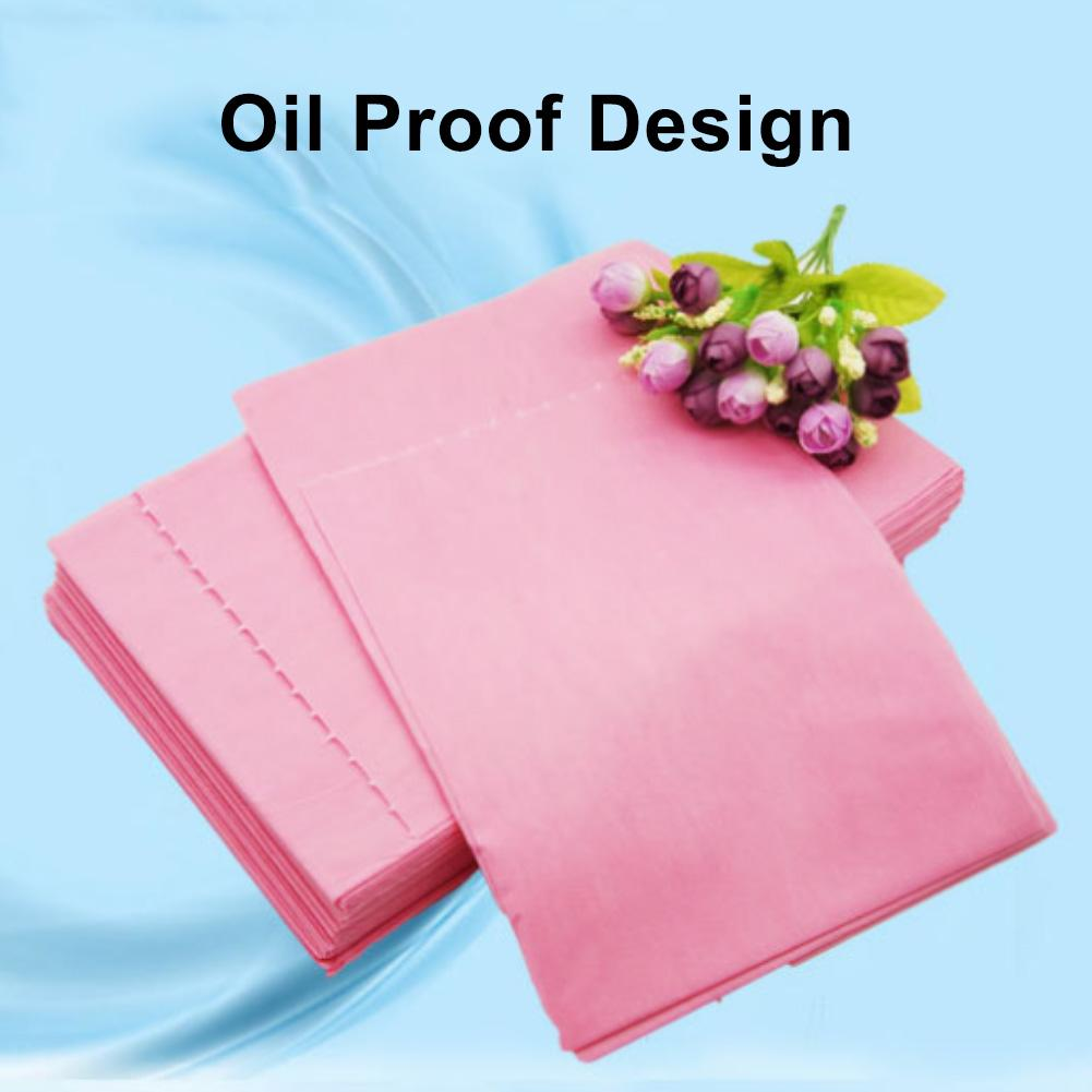 50PCs 180 X 80cm Disposable SPA Massage Bedsheet Waterproof Bed Cosmetics Tool Sheets Massage Beauty Salon Bed Table Cover Sheet