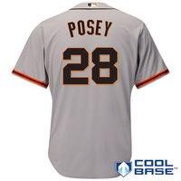 MLB Men S San Francisco Giants Buster Posey Baseball Gray Road Cool Base Player Jersey