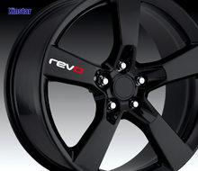 Revo adesivo da roda de carro para revo, volkswagen golf 7 passat b5 b6 b7 golf mk4 mk6 mk7 cc, 4 peças r20 r32 r36