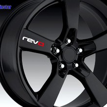4pcs revo Car wheel sticker for revo volkswagen golf 7 passa
