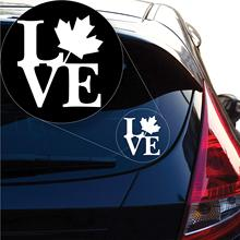 Yoonek Graphics Love Canada Decal Sticker for Car Window, Laptop and More. # 1209 (4 x 3.7, White)