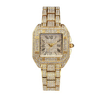Hot Luxury Fashion Women Watches Gold Diamonds Ladies Quartz Watch Square Hours Female Clock Famous brand Wrist Watch 2017 New