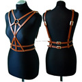 Fashion Sexy Women Cross Leather Harness Handcrafted Body Bondage Sword Belts Waist Straps